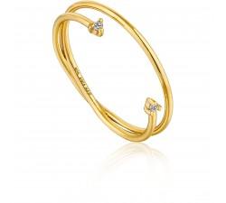 Bague femme argent 925/1000 doré Ania Haie Modern Touch of Sparkle R003-04G