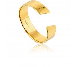 Bague femme argent 925/1000 doré Ania Haie Geometry Class R005-03G