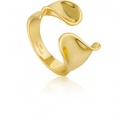 Bague femme argent 925/1000 doré Ania Haie Twister R012-03G