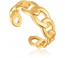 Bague femme argent 925/1000 doré Ania Haie Chain Reaction R021-01G