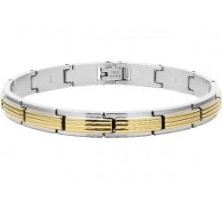 Bracelet acier GADROON 8 mm Bicolore PVD jaune ROCHET B042667