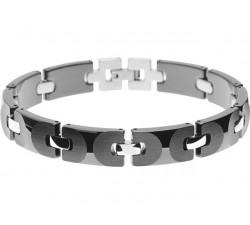 Bracelet acier et céramique noire APOLLO 10,5 mm ROCHET B132101