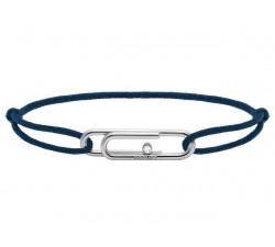 Bracelet TAL Acier avec oxyde Cordon Coton 1mm Marine ROCHET B196006