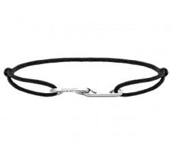 Bracelet LOVE 33mm Acier avec lien Cordon 1mm Noir ROCHET B216001