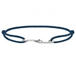 Bracelet LOVE 33mm Acier avec lien Cordon 1mm Marine ROCHET B216006