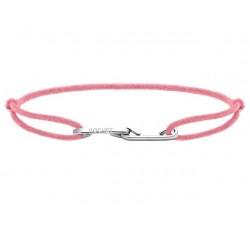 Bracelet LOVE 33mm Acier avec lien Cordon 1mm Rose poudré ROCHET B216030