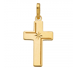Pendentif croix or jaune 750/1000 by Stauffer