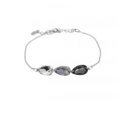 Bracelet argent 925/1000 et Swarovski elements Indicolite BR-3LARM-001