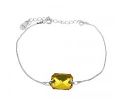 Bracelet argent 925/1000 et Swarovski elements Indicolite BR-JADE-226
