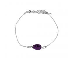 Bracelet argent 925/1000 et Swarovski elements Indicolite BR-LARM-204