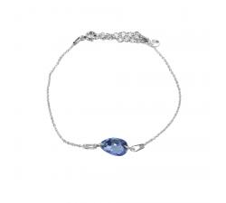 Bracelet argent 925/1000 et Swarovski elements Indicolite BR-LARM-211