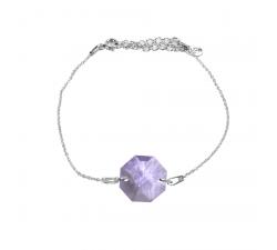 Bracelet argent 925/1000 et Swarovski elements Indicolite BR-PRISCA-371
