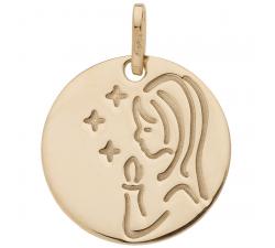 Médaille vierge or jaune 750/1000 by Stauffer