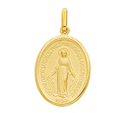 Médaille vierge miraculeuse or jaune 375/1000 by Stauffer