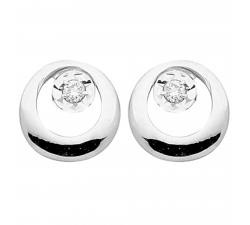 Boucles d'oreilles or gris 750/1000 diamants by Stauffer