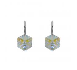 Boucles d'oreilles argent 925/1000 et Swarovski elements Indicolite DO-CARLA-001AB