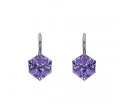 Boucles d'oreilles argent 925/1000 et éléments de cristaux Indicolite DO-CARLA-371