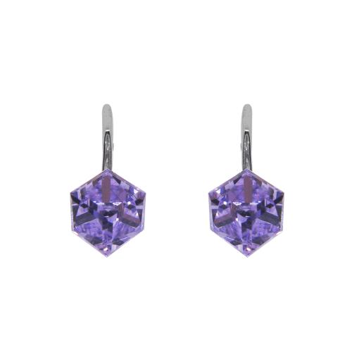 Boucles d'oreilles argent 925/1000 et Swarovski elements Indicolite DO-CARLA-371