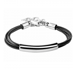 Bracelet acier et cuir Elixa EL121-8193