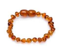 Bracelet enfant en ambre by Stauffer GAB1