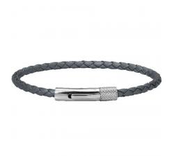 Bracelet DRIVER acier et cuir 3,5 mm ROCHET HB1430300