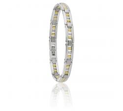 Bracelet Silki acier bicolore JOURDAN MB 834 H