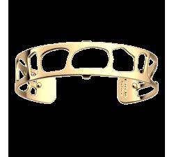 Bracelet manchette 14 MM LES GEORGETTES doré brillant Léopard 70346630100000