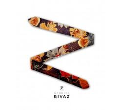 bracelet montre fleurs d'automne en soie Gabriel Rivaz S17