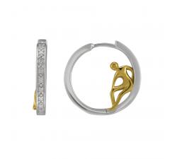 Boucle d'oreilles ISADORA argent 925/1000 bicolore, JOURDAN AMK 078
