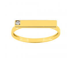 Bague or jaune 750/1000 et diamant 0,005 carat by Stauffer