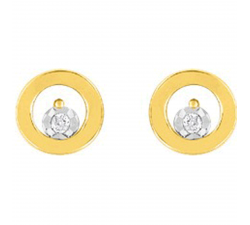 Boucles d'oreilles or jaune 750/1000 diamants by Stauffer