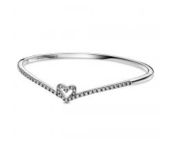 Bracelet coeur scintillant Wishbone en Argent 925/1000 PANDORA 599297C01