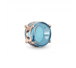 Charm Cabochon Ovale Bleu Pandora rose 789309C01