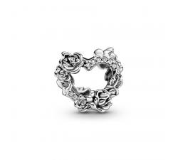Charm Coeur Ouvert et Fleurs Roses en Argent 925/1000 PANDORA 799281C01