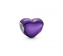 Charm cœur violet métalliqueen Argent 925/1000 PANDORA 799291C01