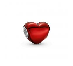 Charm cœur rouge métallique en Argent 925/1000 PANDORA 799291C02