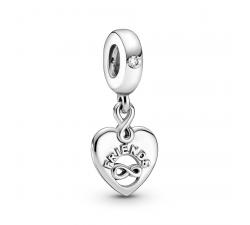 Charm pendentif cœur Friends Forever en Argent 925/1000 PANDORA 799294C01