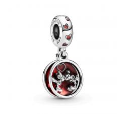 Charm pendentif Disney Mickey et Minnie Mouse Love & Kisses en Argent 925/1000 PANDORA 799298C01