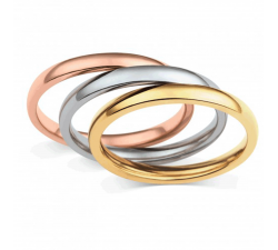 Bague acier, 3 anneaux by Stauffer