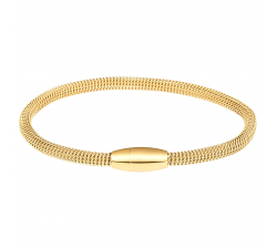 Bracelet acier PVD jaune, fermoir aimanté by Stauffer