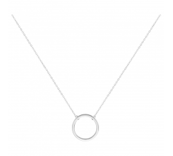 Collier acier motif cercle by Stauffer