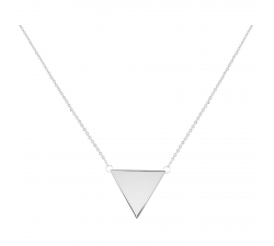Collier acier motif triangle PHEBUS ACIER 871-076