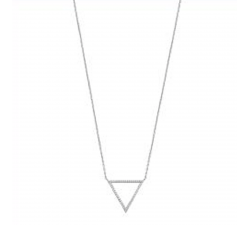 Collier argent 925/1000 motif triangle et oxydes de zirconium by Stauffer