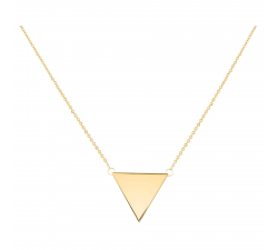 Collier acier PVD jaune motif triangle PHEBUS ACIER 872-041.J