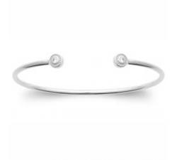 Bracelet rigide argent 925/1000 et oxydes de zirconium by Stauffer