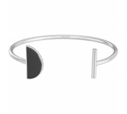 Bracelet rigide acier et céramique noire, CERANITY STEEL 903-131.N
