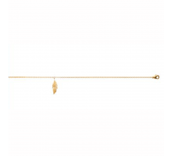 Chevillère plaqué or jaune, plume by Stauffer