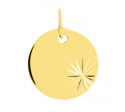Pendentif laique or jaune 375/1000 by Stauffer
