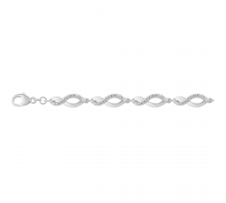 Bracelet argent 925/1000 et oxydes de zirconium by Stauffer
