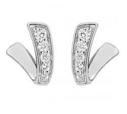 Boucles d'oreilles argent 925/1000 et oxydes de zirconium, by Stauffer